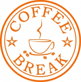 Muursticker Coffe Break