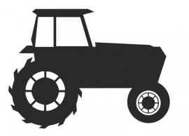 Schoolbordsticker Tractor