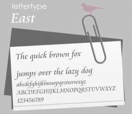 Lettertype East