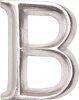 POSH Graffiti Silver Wooden 12 cm letter B