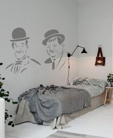 Muursticker Laurel & Hardy