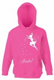 Kids Sweater Fee met jouw naam in Fuchsia roze