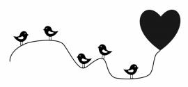 Muursticker Vogellijn
