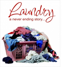 Muursticker Laundry