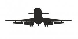Schoolbordsticker opstijgend vliegtuig