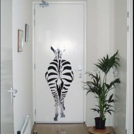 Muursticker Zebra Achterkant