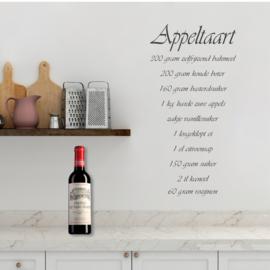 Muursticker Recept  Appeltaart