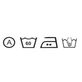 Logo wasvoorschriften 80 x 17 cm