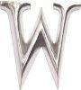 POSH Graffiti Silver Wooden 12 cm letter W
