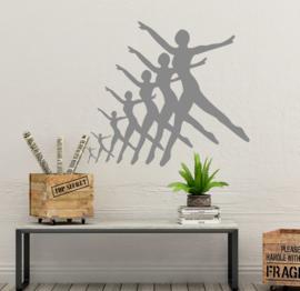 Muursticker Dansers