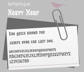 Lettertype Heavy Heap