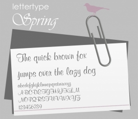 Lettertype Spring