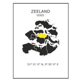 Muursticker Provincie Zeeland / gemeentes