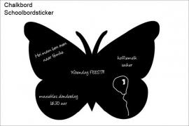 Schoolbord Muursticker Vlinder 40x55cm
