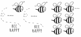 Muursticker BEEhappy