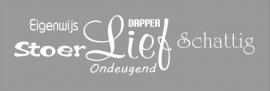 Muursticker Dapper...