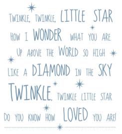 Tekst TWINKEL TWINKEL LITLE STAR....