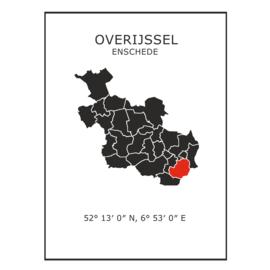Muursticker Provincie Overijssel / gemeentes