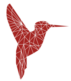 Muursticker Kolibrie Variant