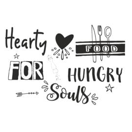 Muursticker Hearty Food