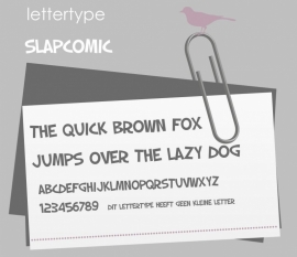 Lettertype Slap Comic