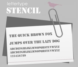 Lettertype Stencil