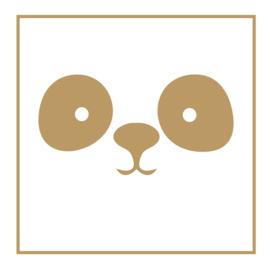 Muursticker snoet PANDA