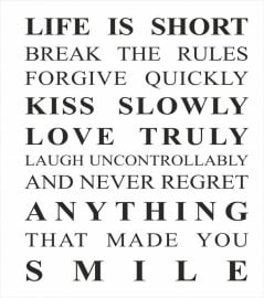 Life is short RECTANGLE