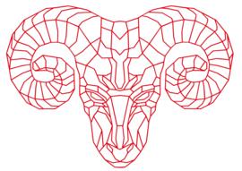 Muursticker Ram
