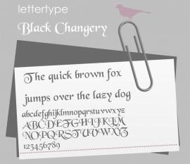 Lettertype Black Changery