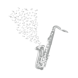 Muursticker Saxofoon