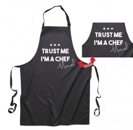 Keukenshort bedrukken met eigen naam