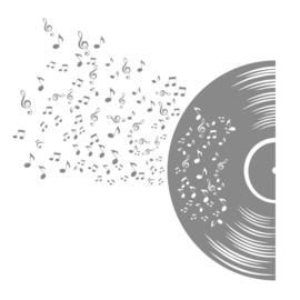 Muursticker Muziek Vinyl