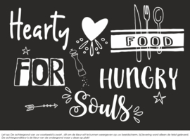 Muursticker Hearty Food 150 cm breed x 110 cm hoog