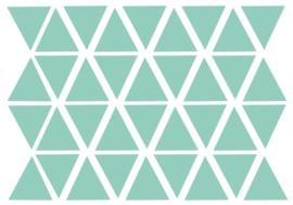 Muursticker setje Driehoekjes 3 x3 cm