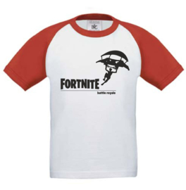 Kids Baseball T-shirt  Rood/wit FORTNITE