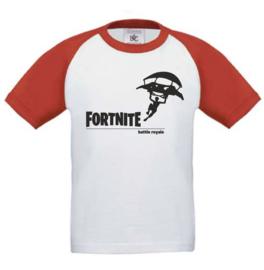 Kids Baseball T-shirt  Rood/wit FORTNITE