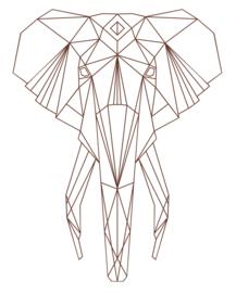 Muursticker Olifantenkop