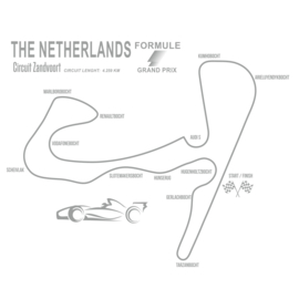 Muursticker Formule 1 Zandvoort