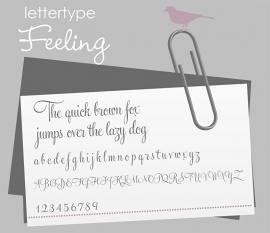 Lettertype Feeling