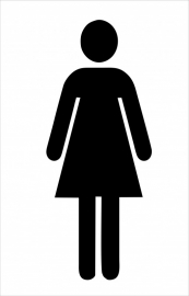 Muursticker Pictogram Toilet dame of toilet man