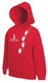 Kids Sweater Minifig Red met jouw naam
