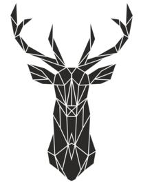 Muursticker Hertenkop variant