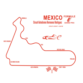 Muursticker Formule 1 Mexico