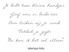 "Tekst ""Kleine handjes"""