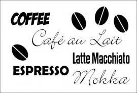 Muursticker Caffé/ koffie