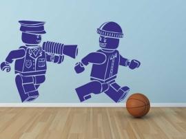 Muursticker Lego Politie & Boef