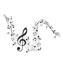 Muursticker Muzieknoten