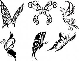 Muursticker French Butterfly