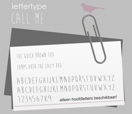 Lettertype Call ME